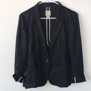 Halogen black linen blazer!